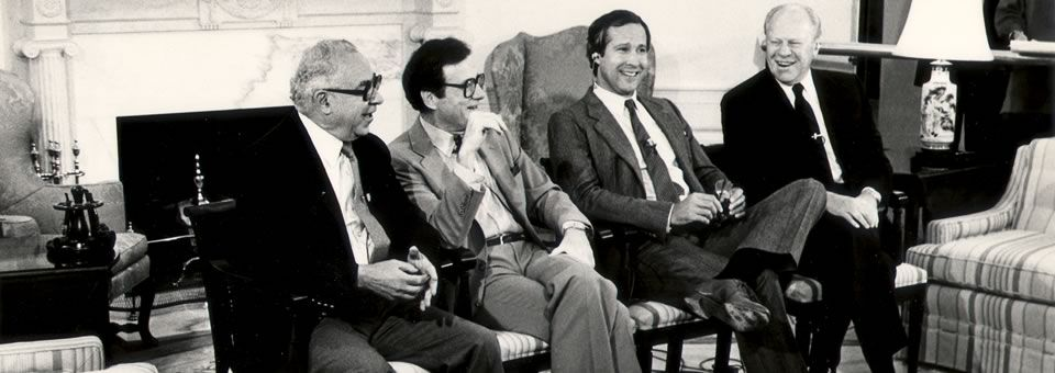 Art Buchwald, Chevy Chase and President Ford